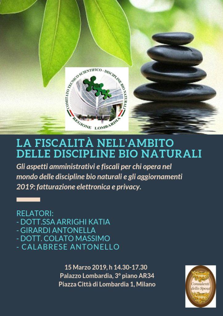 Fiscalità e discipline bionaturali